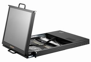 AMK716 LCD Keyboard drawer, 1U Dual Slide Rail, 17